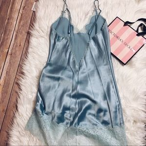 Victoria's Secret Blue Lace slip dress